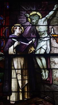 Saint Patrick Church Columbus Ohio  Stained Glass St. Thomas Aquinas Detail